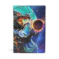 ブックカバー 文庫 a5 皮革 レザー 竜の惑星 文庫本カバー ファイル 資料 収納入れ オフィス用品 読書 雑貨 プレゼント