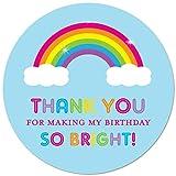 40 cnt Rainbow Thank You Labels - Rainbow Birthday Favor Stickers