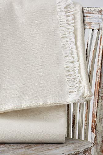 Textilhome - Bettüberwurf, Mehrzweck/Plaid 180 x 285cm Dante - Eignet Sich als Sofaüberwurf & auch als Tagesdecke. Farbe Rohe
