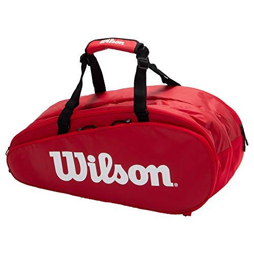 Wilson(ウイルソン) テニス バドミントン ラケットバッグ TOUR 2 COMP LARGE(ツアー2コンプラージ) ラケット9本収納可能 レッド WRZ848909 ウィルソン