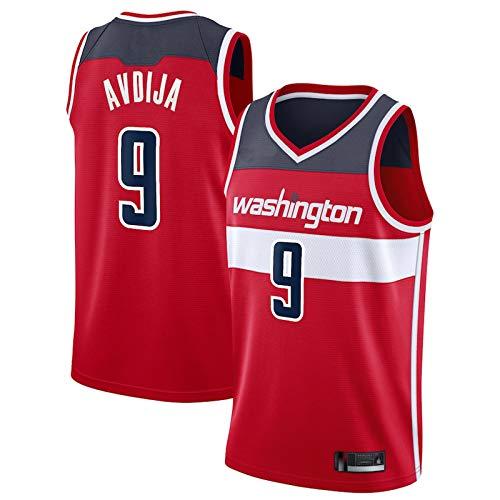 Baloncesto 9# Away Camiseta de baloncesto sin mangas Deportes Baloncesto Jersey de los Hombres Ropa de Cuello Redondo Chaleco Jersey - Rojo