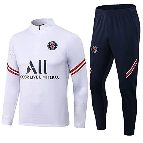 HMMHHE París Fútbol Uniforme de Manga Larga Uniforme Uniforme Uniforme Ropa Deportiva Traje de Entrenamiento Transpirable Secado rápido Jersey (Size : L)