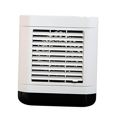 Baoblaze Enfriador de Aire portátil, 3 en 1, Mini purificador de Aire Acondicionado, Ventilador de refrigeración, Enfriador de Aire con 3 velocidades de - Estilo USB Blanco