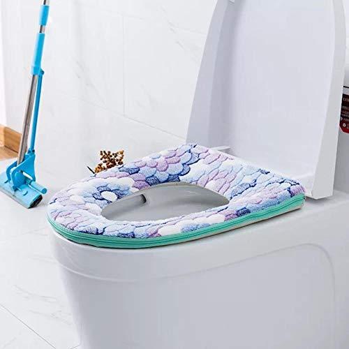 Yim Home WC Plus Toilettensitz mit Samt gepolstert, mehrere Auswahl, warm, wasserdicht Kleber Schnalle Khaki