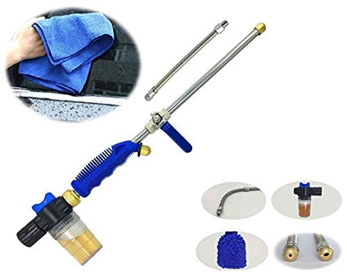 ProvostPro Garden Hose Pressure Wand -Power Washer Water Hose Nozzle, Hydro Water Jet, Glass Cleaner, Cleaning Gloves, Garden Sprayer Car Wash Window Washing Soap Cannon, Towel, Mitt Included 2 Tips.