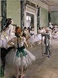 Poster 30 x 40 cm: Die Tanzstunde von Edgar Degas -