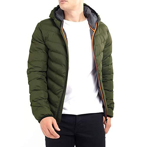 Brave Soul - Abrigo de invierno acolchado con capucha para h