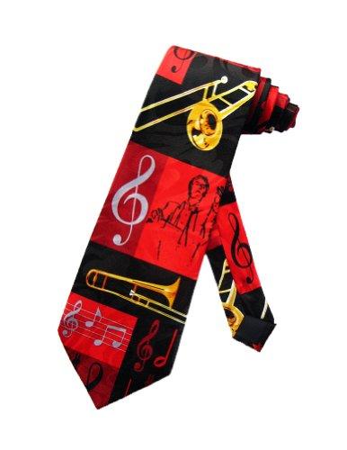 Steven Harris cravate chef d'orchestre et trombone - noir - taille unique