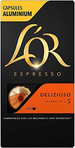 L'Or Espresso Café Delizioso - Intensité 5 - 200 Capsules en Aluminium Compatibles avec les Machines Nespresso®* (Lot de 20X10 capsules)