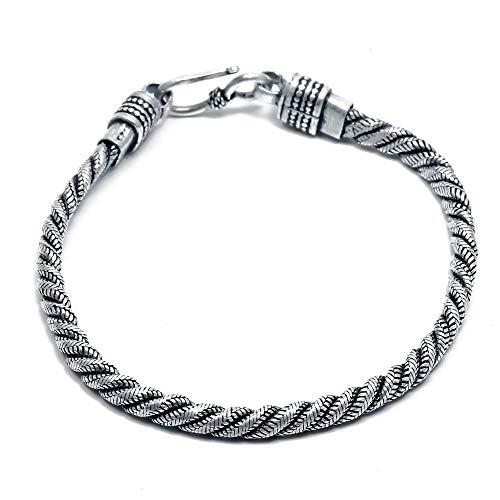 925 Sterling Silber Schmuck Designer Armband Handgemachter Schmuck Herren-Armband Frauen-Armband Vintage-Schmuck Minimal Schmuck Minimal-Armband (CD1695)