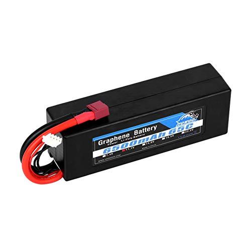 YOWOO Batería de grafeno 3S 6500mAh 65C 11.1V Baterías Hardcase RC Lipo con Dean T Style Connector para RC 1/8 Escala 1/10 Vehículos Camiones Camiones