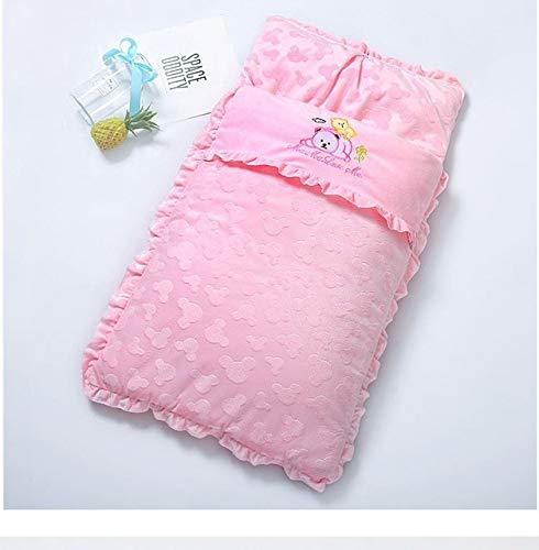 Zhangl Baby Products Sac de couchage épais pour bébé Motifs automne et hiver Broderie Dessin animé Accessoires poussette (Bleu)
