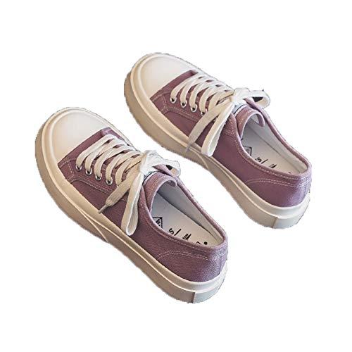 Zapatos de Lona para Mujer, Antideslizantes, Estilo Simple, cómodos, Casuales, Zapatos Bajos, para Caminar, Planos, vulcanizados, para Uso Diario