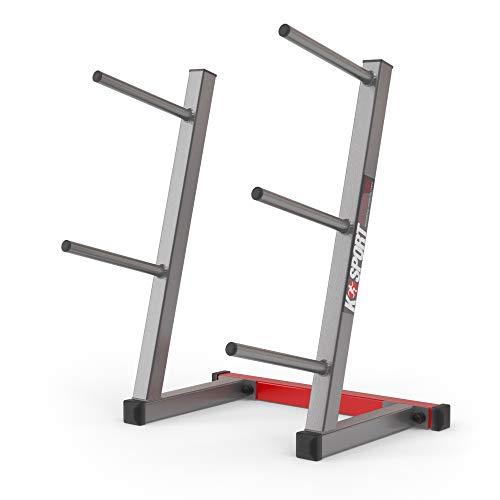 K-Sport: Soporte para discos de pesas con 5 barras de carga, soporte...