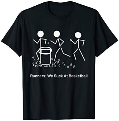 Funny Running Saying T Shirt Runners We Suck At Basketball product image