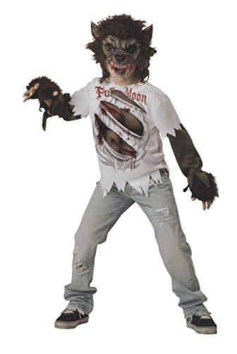MCS Werwolf-Kostüm für Kinder Halloween-Kostüm Weiss-braun 110/116 (6 Jahre)