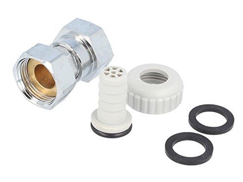 tecuro Zapfhahnzähler-Verschraubungen für Auslaufventile und Zapfhähne 3/4 Überwurfmutter x 3/4 Innengewinde