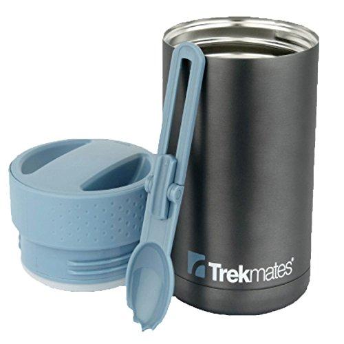 Trekmates Voedselfles - thermosfles met lepel, roestvrijstalen voedselcontainer met een mooi ontwerp