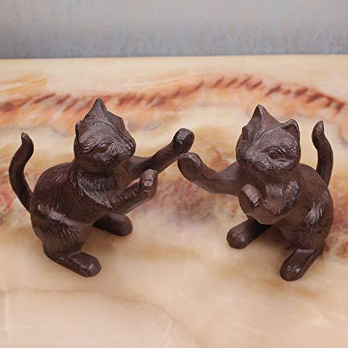 CKH Creatieve Boekenplank Boek Door Retro Gietijzeren Kitten Bookends Amerikaanse Home Decoratie Boek