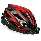Shinmax Casco de Bicicleta con Luz LED USB Visera Desmontable Ajustable con Certificación CE Casco de Bicicleta BMX Scooter Montaña y Carretera Especializado para Adultos Casco Bicicleta con Mochila
