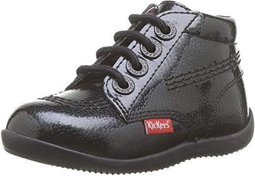 Kickers BILLISTA Zip, Bottes & bottines Bébé Fille, Noir (Noir Vernis Perm 83), 25 EU