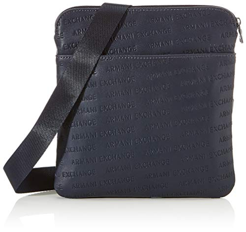 Armani Exchange Small Crossbody Bag - Borsa Messenger Uomo, Blu (Navy Navy), 22.5x1.5x22 cm (B x H T)