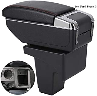 JEYODA for Ford Focus Armrest Box Focus 3 Universal Car Central Armrest Storage Box Cup Holder Ashtray Modification Accessories