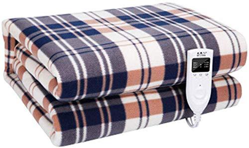 Mirage Grote elektrische verwarmingsdeken, instelbare timer en 3 optionele verwarmde deken, met Fast-verwarmingstechnologie voor het hele lichaam comfort (200 x 180 cm), b