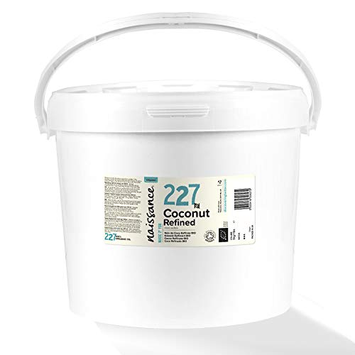Naissance Organic Refined Coconut (Solid) Oil (no. 227) 5kg - Pure, Natural, Certified Organic, Cruelty Free, Vegan - Moisturising & Hydrating - Aromatherapy, Skincare, Haircare & DIY Beauty Recipes