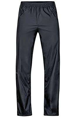 Marmot Men's PreCip Lightweight Waterproof Full-Zip Pant, Medium, Jet Black