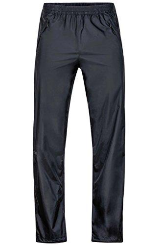 Marmot Men's PreCip Lightweight Waterproof Full-Zip Pant, Jet Black, Medium