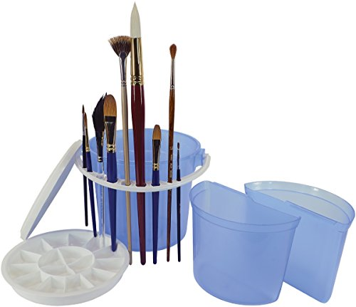 Art Advantage Bucket Brush Cleaning Basin, Blue