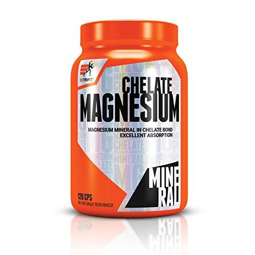 Extrifit Magnesium Chelate Förpackning med 1 x 120 Kapslar - Magnesiumbisglycinat - Mineral