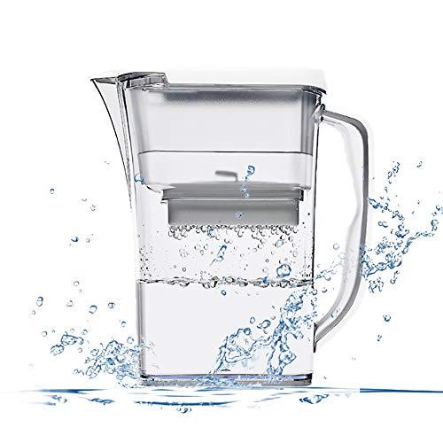 YAUUYA Wasserfilter Filterkartusche Filter in modernem Design zur Reduzierung von Kalk Chlor geschmacksstörenden Stoffen Aktivkohle Wasserfilter 3.2L