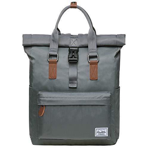 Rolltop Rucksack Einfacher und Unisex Daypack Handtasche für Schul Reisen für 12 Zoll Notebook,28 * 11 * 40cm/ 13L (Grau[K1047])