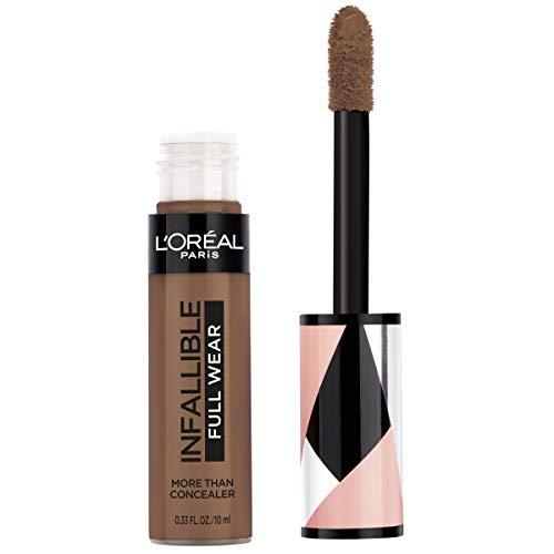 L'Oréal Paris Makeup Infallible Full Wear Concealer, Full Coverage, EXTRA LARGE Applicator, Waterproof, Multi-Use Concealer to Shape, Cover, Contour & Sculpt, Matte Finish, Mocha, 0.33 fl. oz.