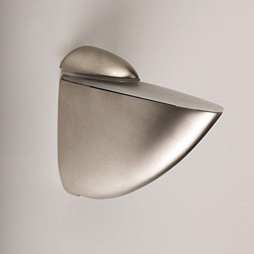 SO-TECH® Soporte para estantería de cristal PELIKAN (grande) aspecto de acero fino mate