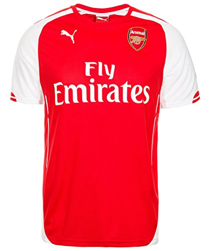PUMA AFC Home Maillot Réplica Arsenal Homme High Risk Red/White FR : XL (Taille Fabricant : XL)