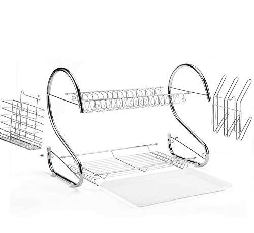 Kitchen Dish Drying Rack Drainer Dryer Tray Cutlery Holder Tableware Organizer (practical)