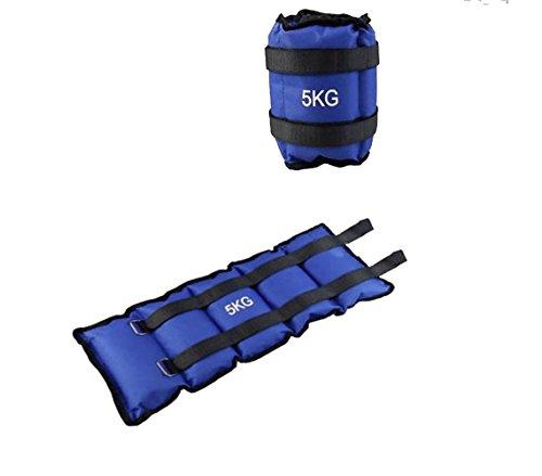 Pack de dos pesas de 5 Kilos para tobillos y/o muñecas para correr o gimnasio