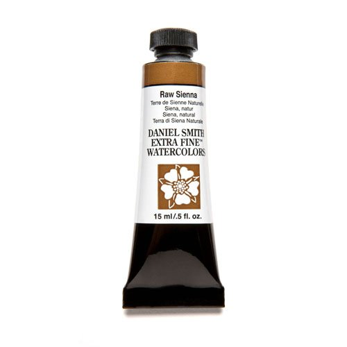 Daniel Smith Extra Fine Watercolor 15ml Paint Tube, Raw Sienna (284600096)