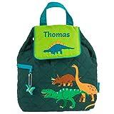 Stephen Joseph Personalised Children's Toddler Backpacks for Boys | Toddler Backpacks Boys | Personalised Nursery Backpacks (Dinosaurs)