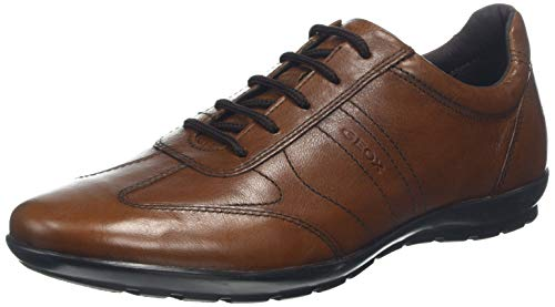 Geox Herren Uomo Symbol B Oxford Flat, Browncotto, 42.5 EU