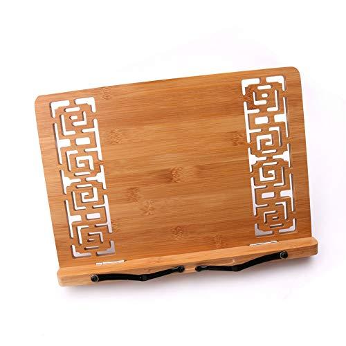 ACHICOO Hollow Out Portátil Plegable De Mesa De Bambú De Lectura De Libros De Soporte De Música (Carton) Color De Madera S