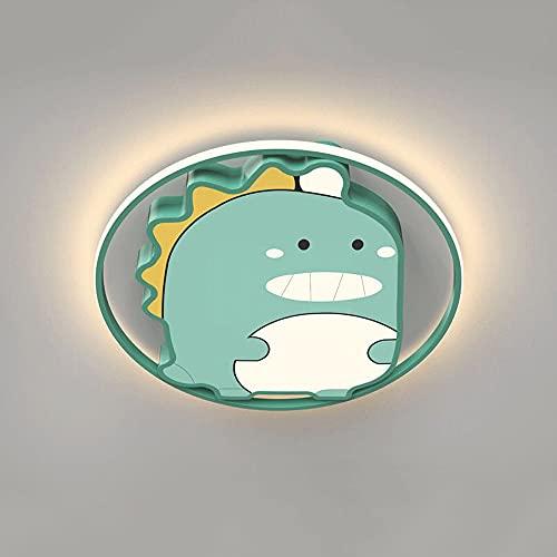 Dibujos animados creativos Protección para los ojos Lámpara de habitación para niños Luz de techo de dinosaurio Lámpara de techo moderna 32W Luces de techo de acrílico LED para dormitorio