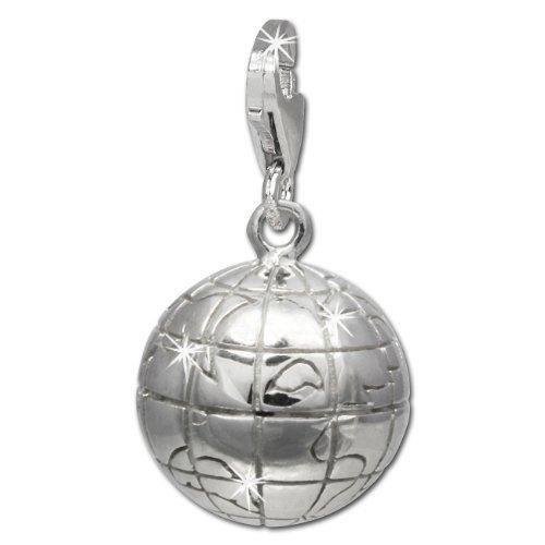 SilberDream Charm Schmuck 925 Echt Silber Armband Anhänger Weltkugel FC724I