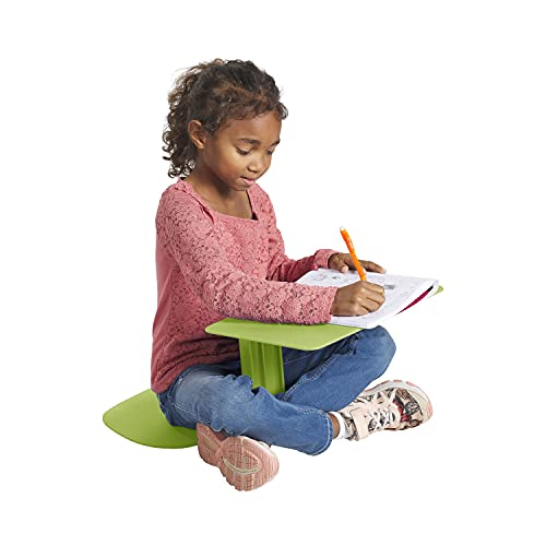 ECR4Kids - ELR-15810-GN The Surf Portable Lap Desk, Flexible Seating for Homeschool and Classrooms, One-Piece Writing Table for Kids, Teens and Adults, GREENGUARD [Gold] Certified, Green