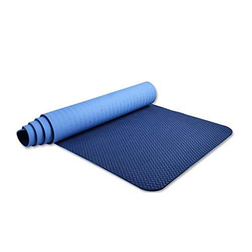 QQCR-A TPE Yoga Mat Extra Dikke 6mm Milieuvriendelijk En Smaakloos Anti-slip Sportmat, 185x80cm