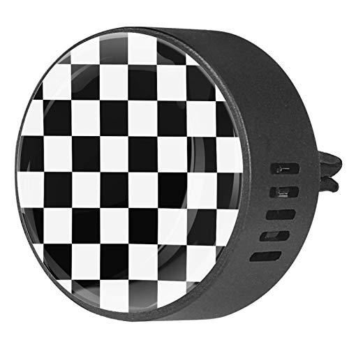 2 piezas difusor de aromaterapia difusor de aceite esencial de coche Clip de ventilación tablero de ajedrez o tablero de ajedrez sin costuras