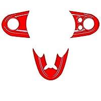 カーインテリアアームレストドアスピーカーステアリングホイールの装飾赤いステッカーセットについてはMINI ONE COOPER S JCW F54のF55のF56 F57のF60のカントリーマン 車のインテリア装飾ステッカ (Color : 9-1)